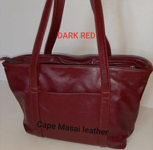 Load image into Gallery viewer, Linda Shopping leather bags with zip - cape Masai Leather