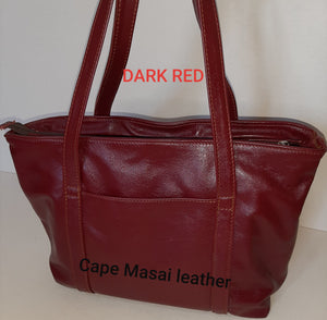 Linda Shopping leather bags with zip - cape Masai Leather