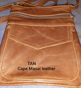 Leony Sling leather Bags - cape Masai Leather