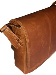 "Men's laptop bag 15""- Cape Masai leather"