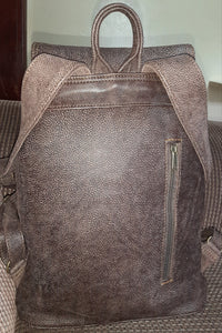 Leather Backpacks with flap XL - cape Masai leather