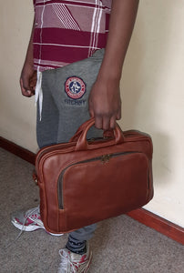 "12"" laptop bag - cape Masai leather"