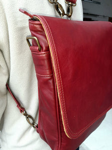 Messenger leather bags - cape Masai Leather