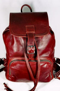 Leather Backpacks with flap - cape Masai Leather