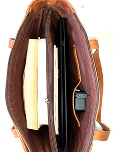 Ladies laptop bags xl - cape Masai leather