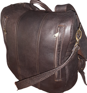 Jabu's travel leather Backpacks - cape Masai Leather