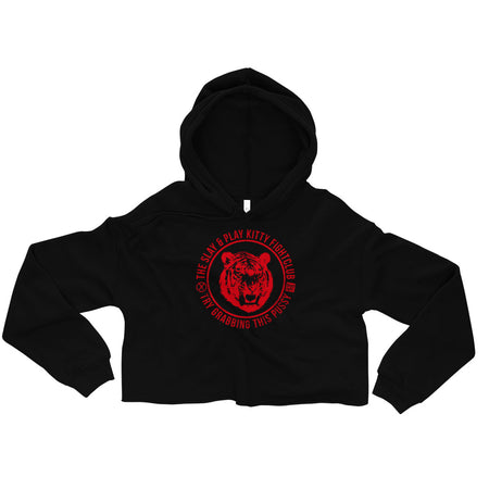 KITTY FIGHT CLUB - Cropped Hoodie