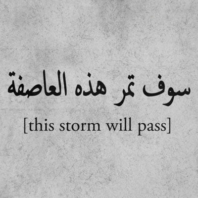 THIS STORM WILL PASS