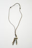 Zimba Long Leather Snare Wire Necklace
