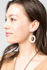 Malaika Tagua Leaf Earrings