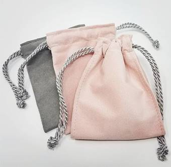 POUCH-34D - MEDIUM DOUBLE STITCH POUCH WITH DIVIDER STRING TIE