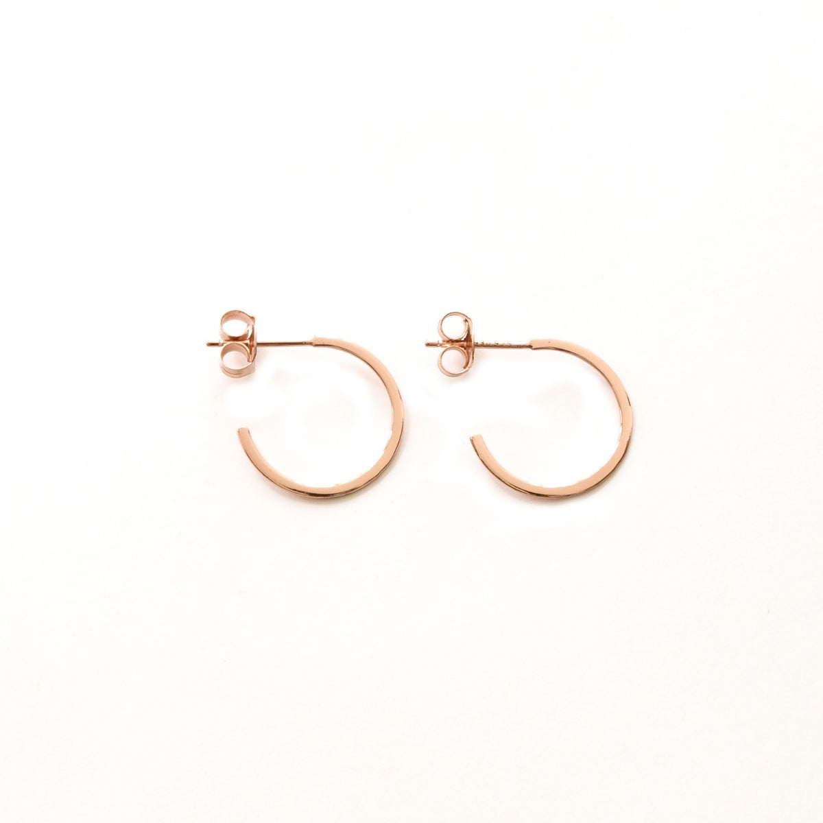 Flat Hoops Rose Gold - 16 mm