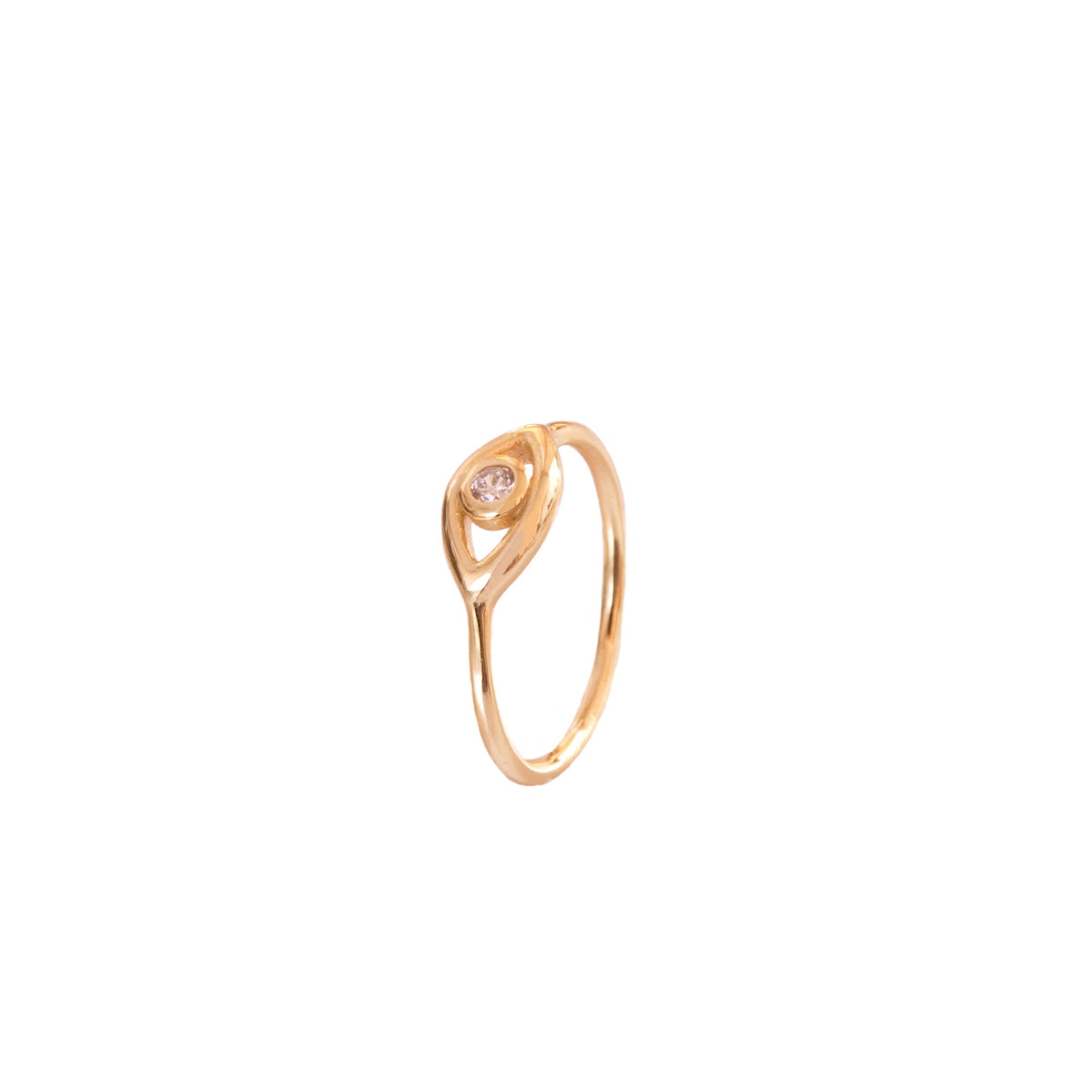 Zirconia eye gold