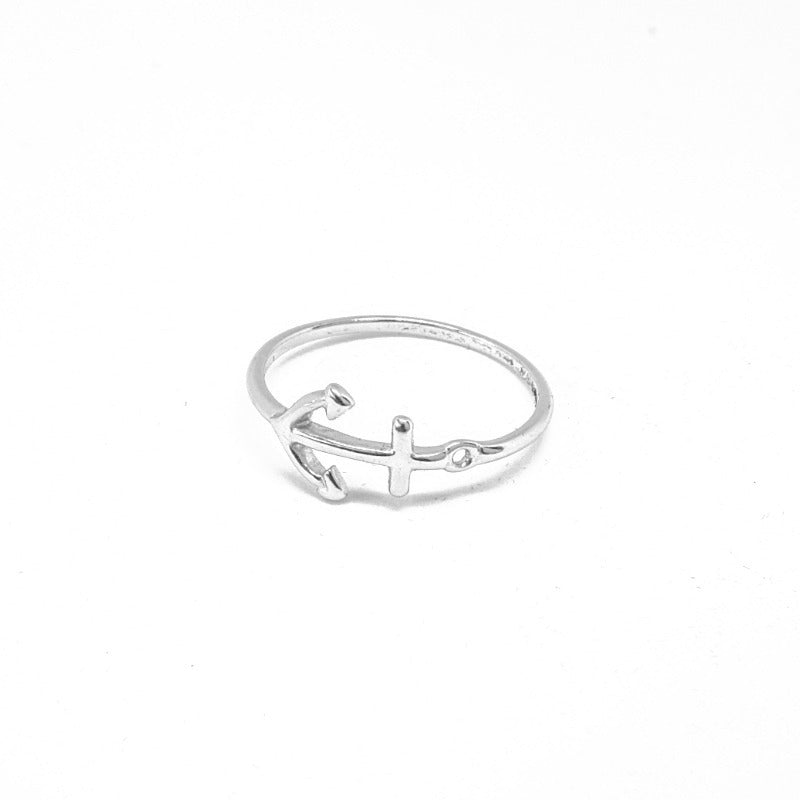 Anchor ring silver - ByMirelae