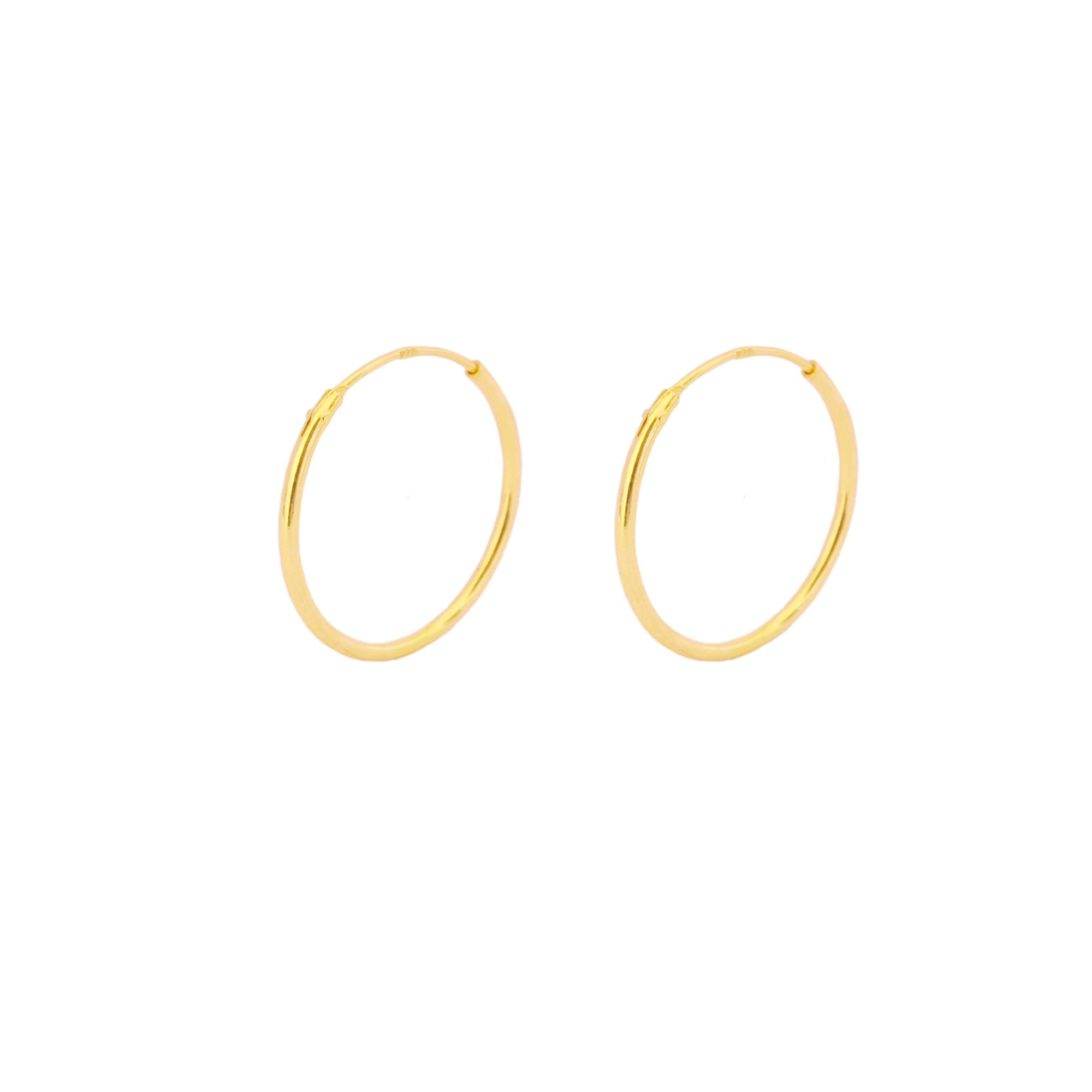 18 mm hoop gold - ByMirelae