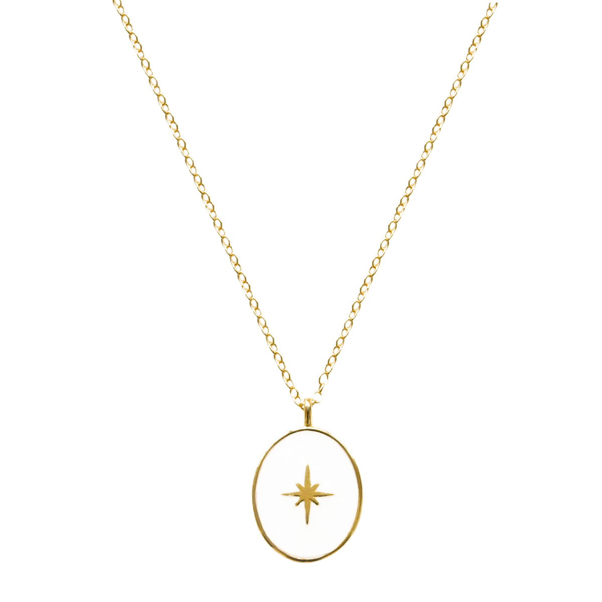White oval star gold