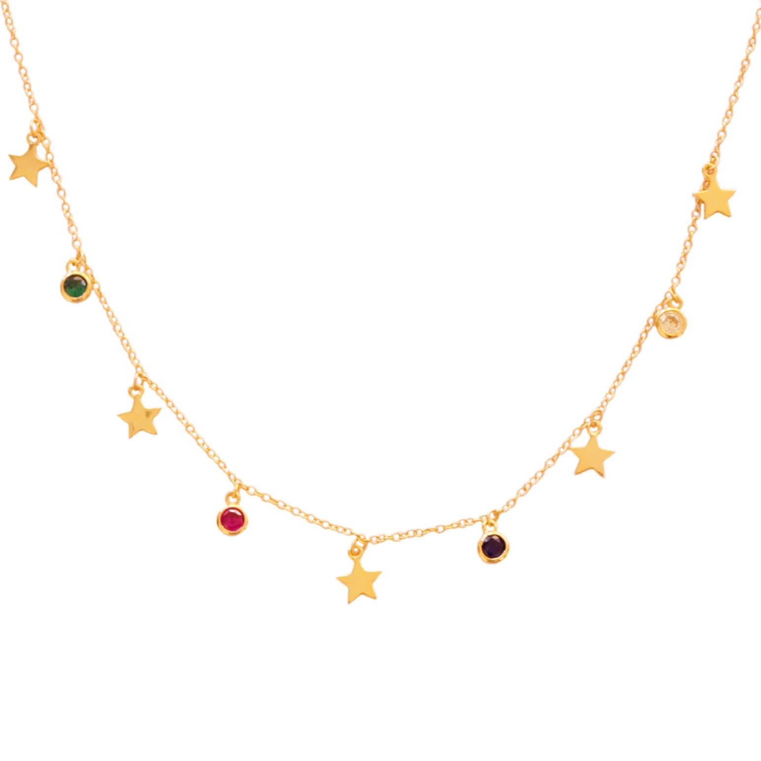 Stars and zirconia rainbow gold - ByMirelae
