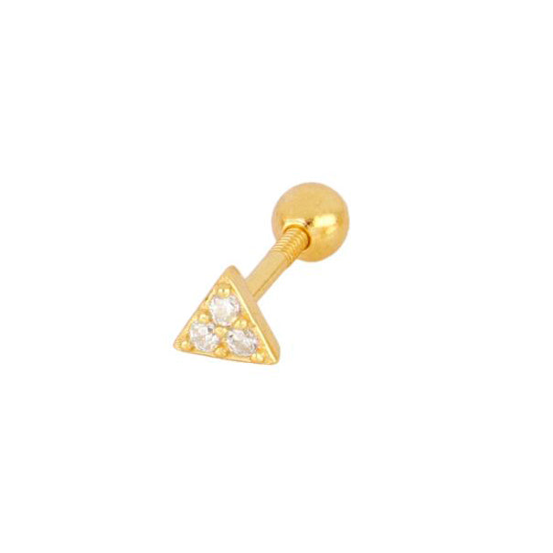 Triangle piercing gold - ByMirelae