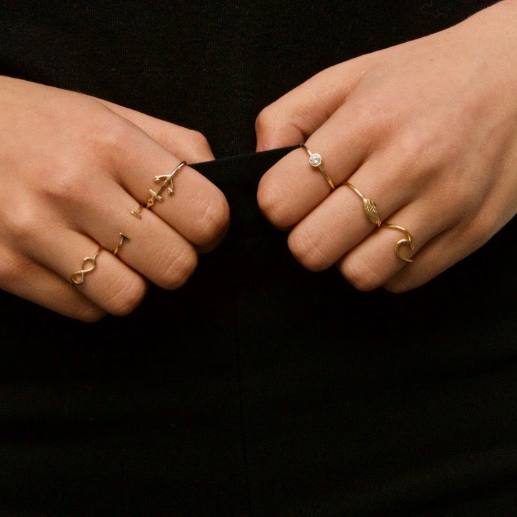 Anchor ring gold - ByMirelae