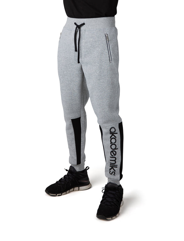 Bound Double Zipper Sweat Pant
