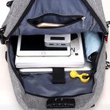 New Oxford Backpack Large USB Cable and Charging Port Male