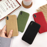 Warm Cloth Fabric Plush Phone Case