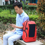 Outdoor Charging Backpack with USB Port Solar Panel