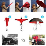 (video) Windproof Reverse Folding Double Layer Inverted Umbrella