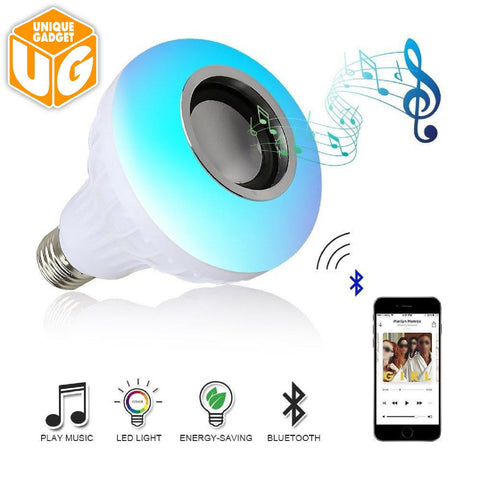 LED RGB Music Bluetooth Bulb Light Lamp