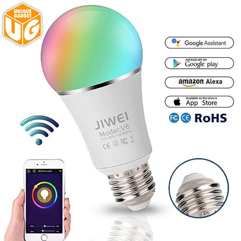 Smart WIFI Bulb  RGB Dimmable LED Bulb Light 16 Million Colours