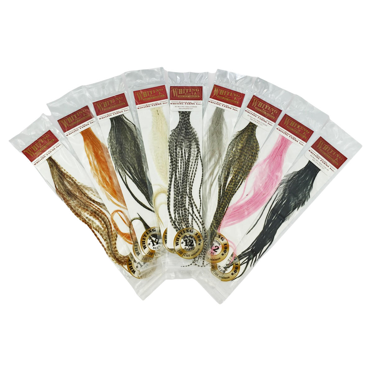 Whiting 100 Packs Saddle Hackle