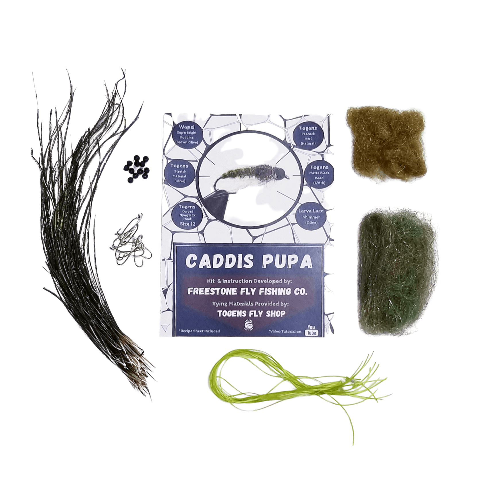 Caddis Pupa - Togens Fly Shopfly tying kit
