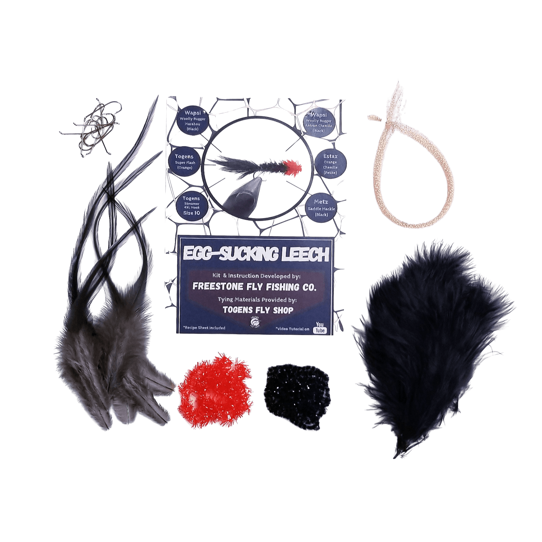 Egg-Suckling Leech - Togens Fly Shopfly tying kit
