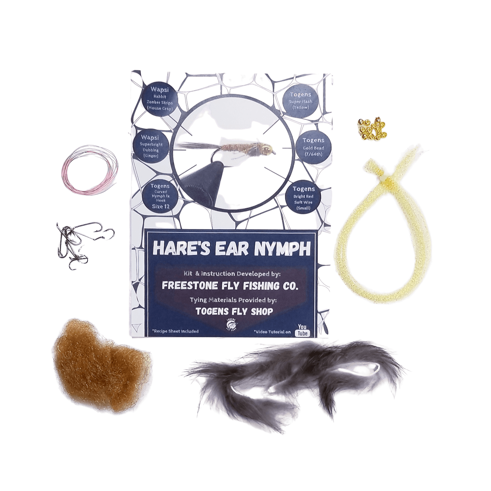 Hare's Ear Nymph - Togens Fly Shopfly tying kit