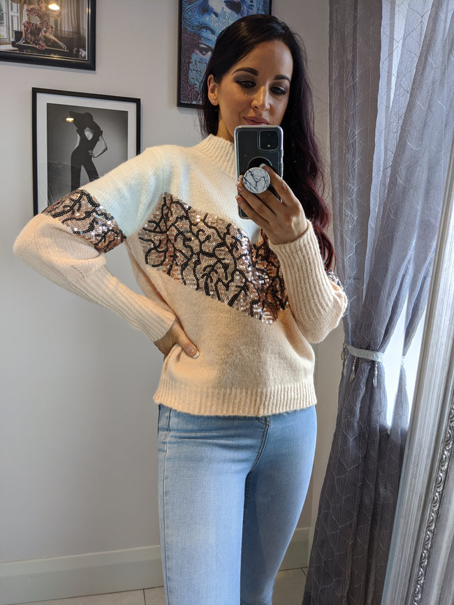 Samantha Sweater With Sequins