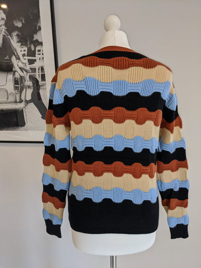 Bianca Striped Sweater- Black