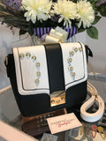 Black/White Cross Body Shoulder Bag