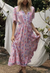 Eve Pink Floral Tiered Maxi