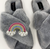 Rainbow Cross Slipper Grey