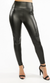 PU Panel Leggings- Black