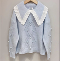 Holly Vintage Style Jumper- Powder Blue