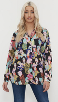 Raquel Multi Coloured Face Print Shirt