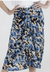 Opera Midi Skirt in Blue Leopard