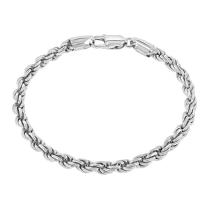Sterling Silver Rope Bracelet (5mm)