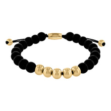 Load image into Gallery viewer, Matte Black Onyx Bead Bracelet