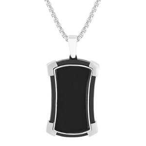 Black Onyx Dog Tag