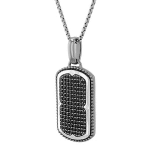 Black Spinel Dog Tag