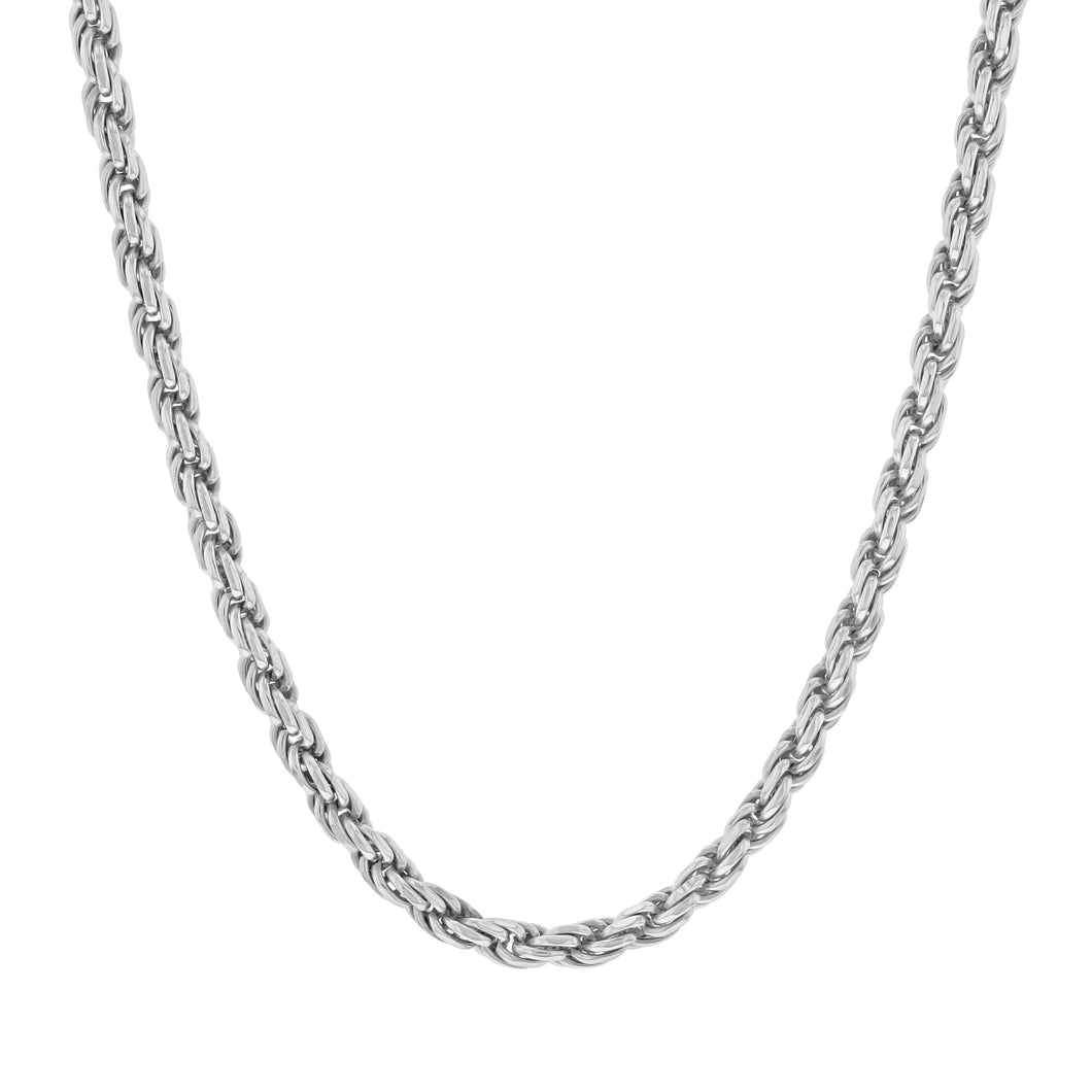 Sterling Silver Rope Chain (3mm)