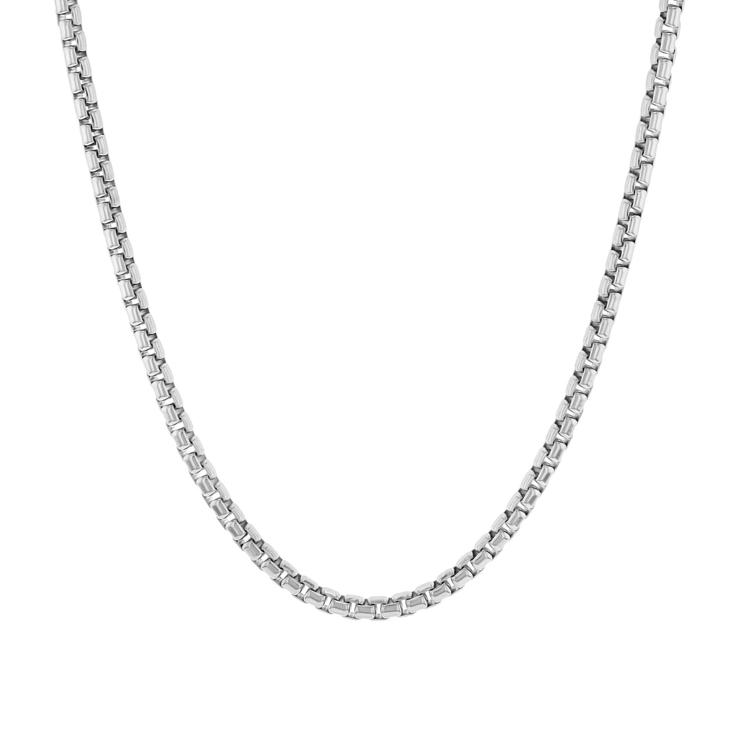 Sterling Silver Round Box Chain (2mm)