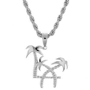 Sterling Silver L.A. Palms Pendant